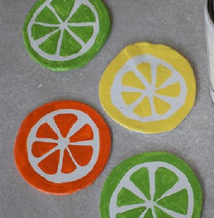 DIY Citrus Slice Coasters