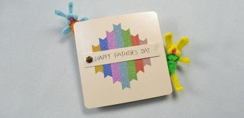Free Instructions on Making a Happy Father's Day Card with Washi Tape
