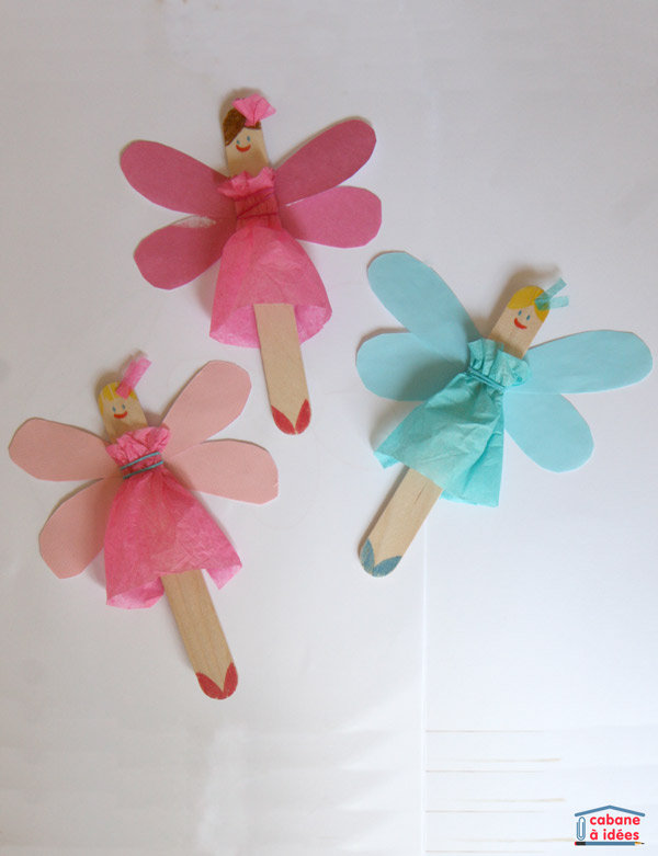 Fairies from popsicle stick