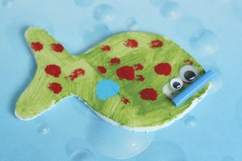 Recycle a foam meat tray into adorable fish magnets. You can even recycle those old magnets you've had on your fridge for ages!