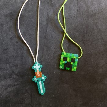 Minecraft Perler Bead Necklace