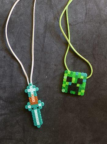 Minecraft Perler Bead Necklace