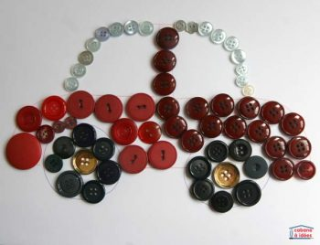 mosaics made with buttons