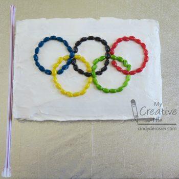 Olympic Flag Cake