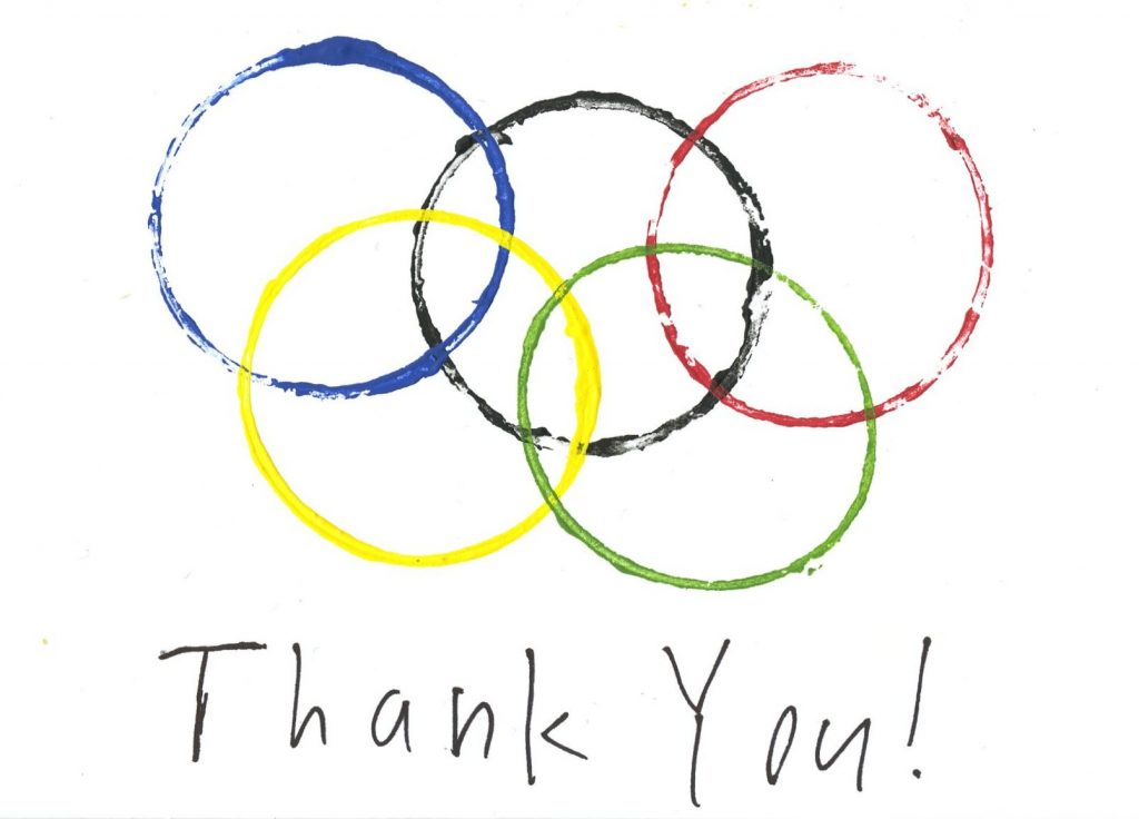 Make invitations or thank-you notes for an Olympics-themed party.