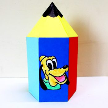 DIY Pencil Shaped Paper Box Kid's Craft