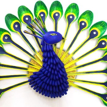 Plastic Spoon Peacock