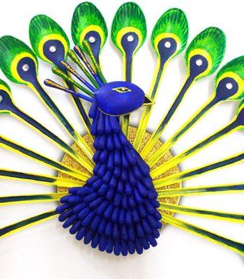 Plastic Spoon Peacock