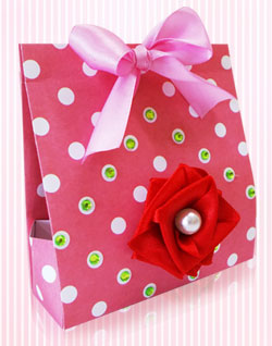 Patterned Paper Gift Bag