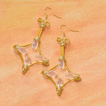Rhombus-Shaped Earrings