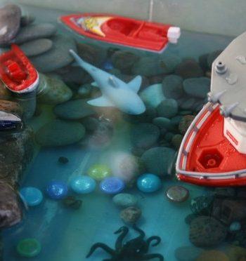 Deep Blue Sea Water Play Bin