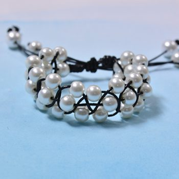 Braided Pearl Bracelet