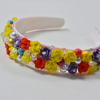 Resin Flower Headband