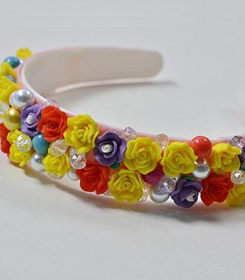 Resin Flower Headband