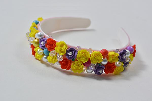 Pandahall Easy DIY - How to Make a Beautiful Homemade Resin Flower Bead Headband