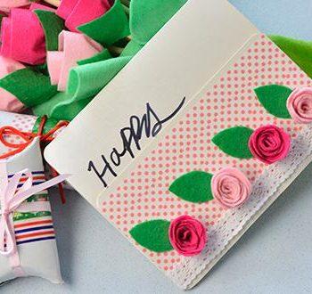 Felt Roses Card