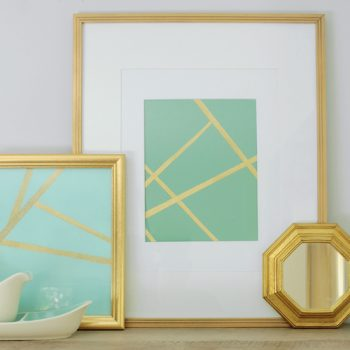5 easy DIY wall art hacks using tape