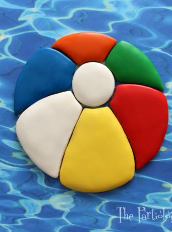 Beach Ball Cookie Platter