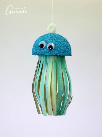 Cardboard Tube Jellyfish