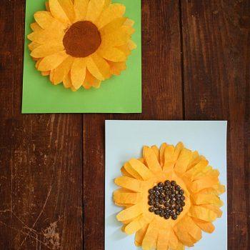Coffee Filter Sunflower