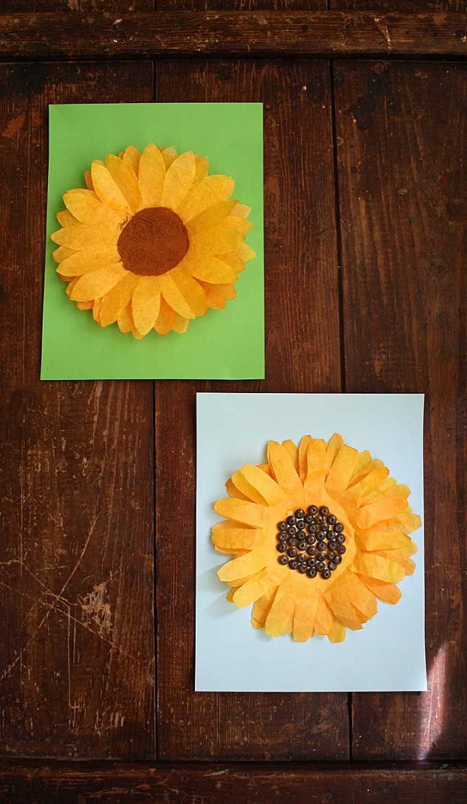 coffee filter sunflower