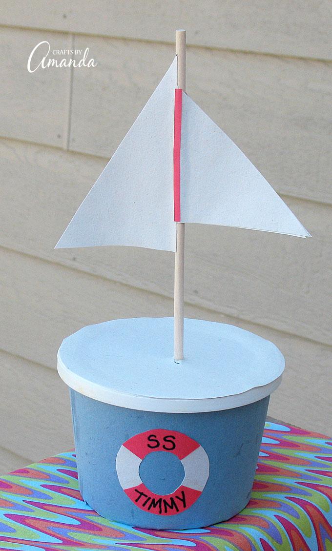 Margarine Tub Boat Fun Family Crafts