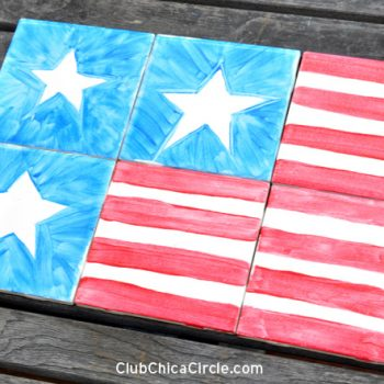 Stars and Stripes Tile Coasters