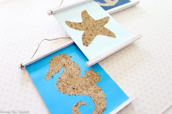Turn sand into a fun piece of art with this easy and surprisingly low-mess tutorial!