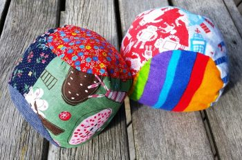 Soft Stuffed Fabric Ball Scrap Busting Pattern + Tutorial