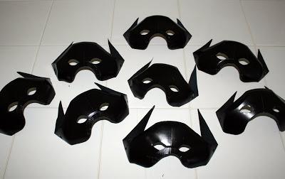 Turn empty milk jugs into cool bat masks!