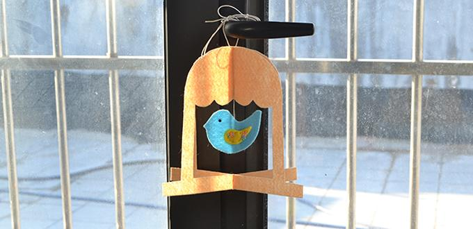 Easy Felt Bird In A Cage