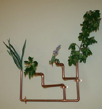 Copper Pipe Planter