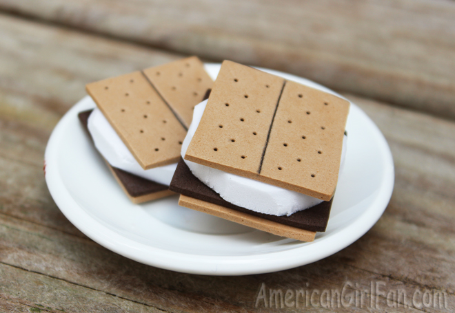 Turn craft foam into s'mores that look almost good enough to eat!