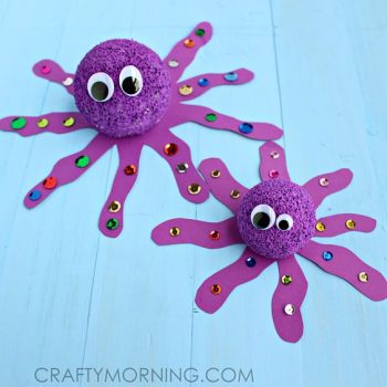 Turn a foam ball into an adorable octopus!