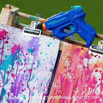 Squirt gun painting is the ultimate summertime activity!