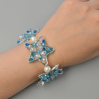 Wire-Wrapped Star Bracelet
