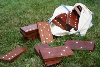 These oversized dominoes are great fun for the backyard.