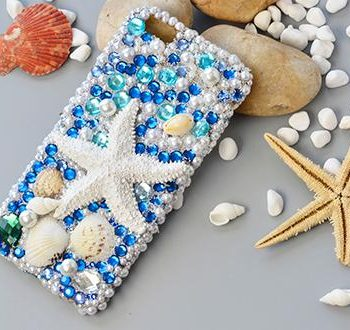 Sparkly Sea Shell Phone Case