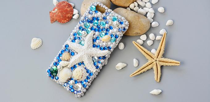 How to Make Your Own Bling Rhinestone and Sea Shell Phone Cast at Home