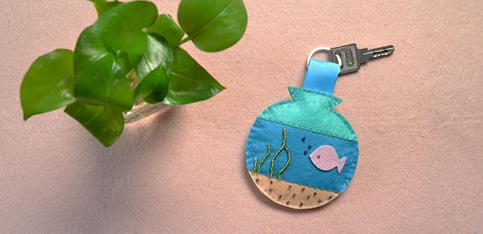Easy Pandahall DIY Project – How to Make Felt Marine Key Chain with Seed Beads