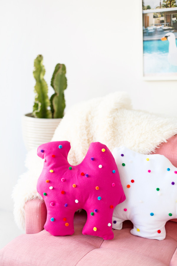 What's more fun than pillows shaped like circus animal cookies?!