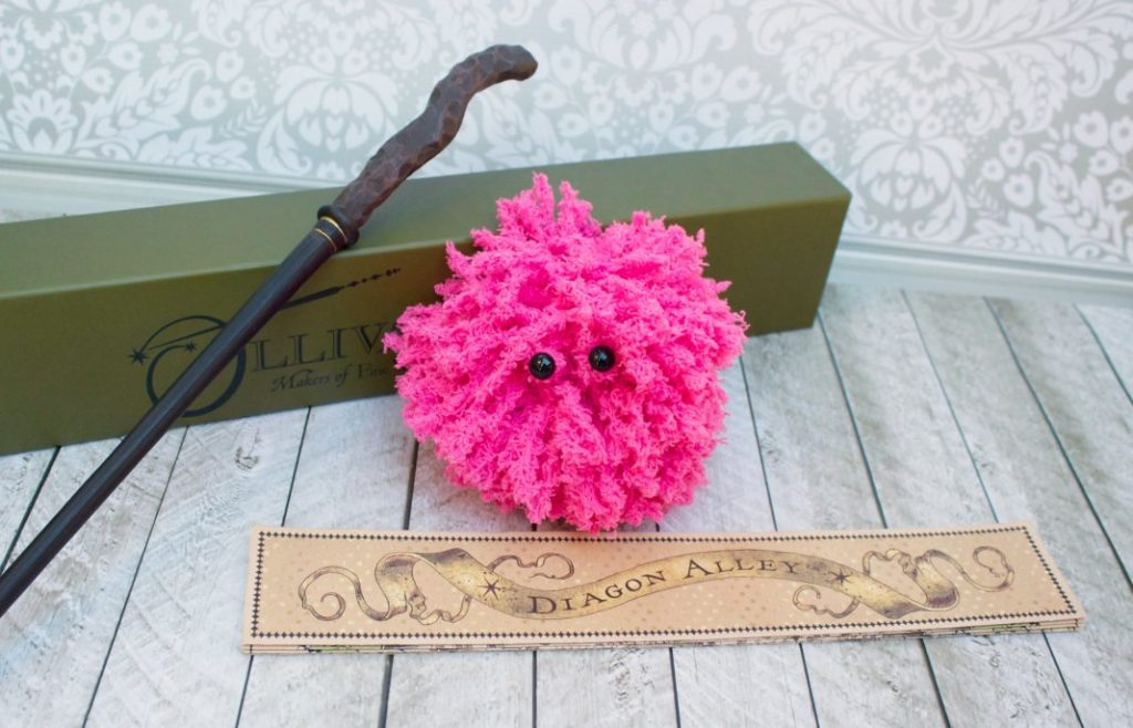 Make your own pygmy puff from the Harry Potter books!