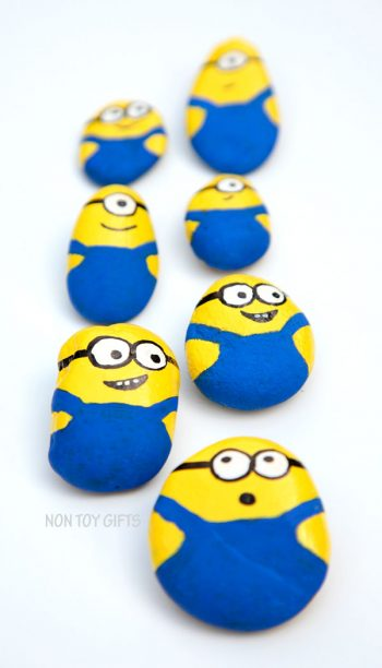 Making Minion painted stones is a fun craft for all Minion fans.