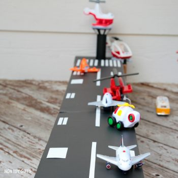DIY cardboard airport toy to make for kids