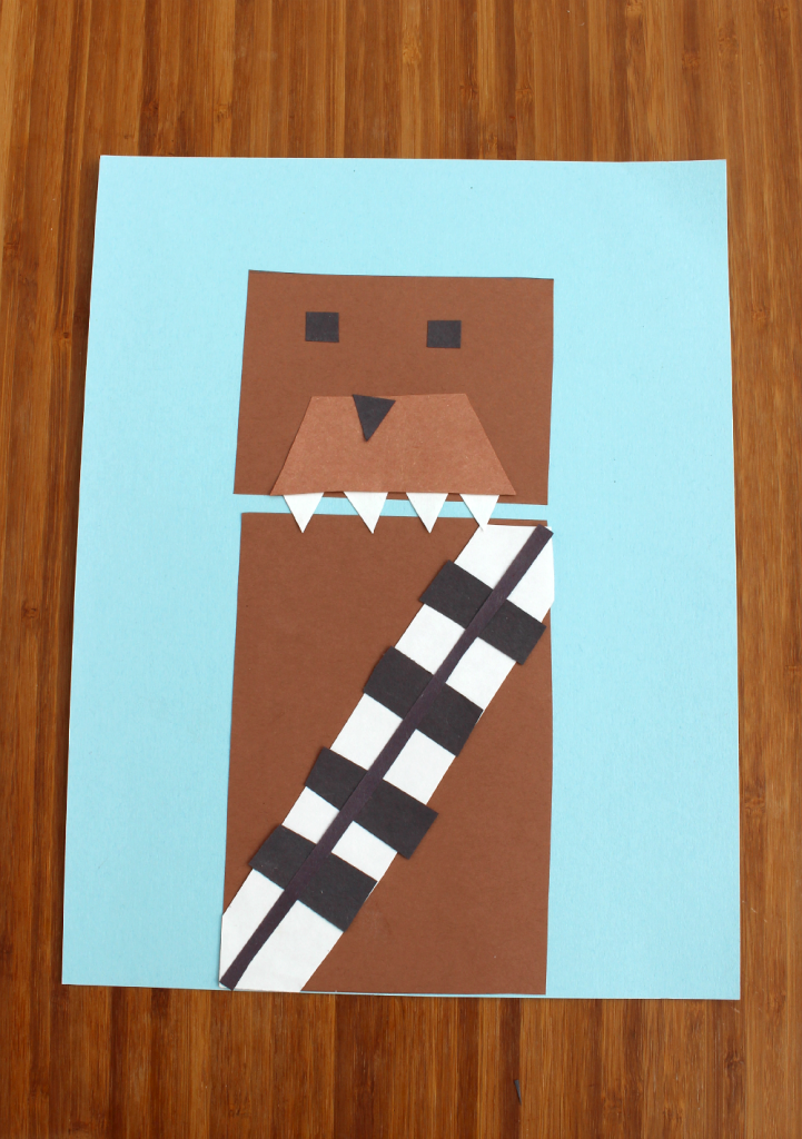 Teach about basic shapes while making Chewbacca.