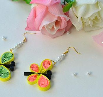 Quilled Butterfly Earrings