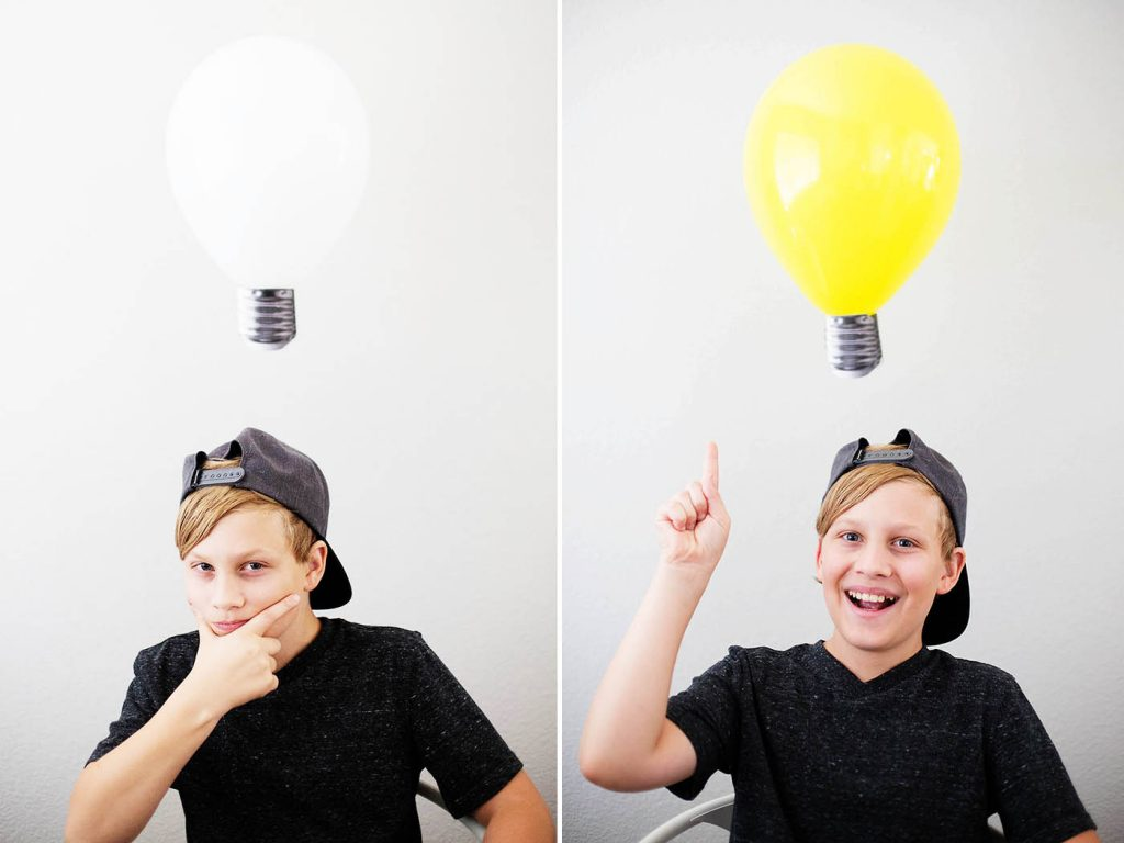 "Capture those ""light bulb moments"" with this easy craft!"