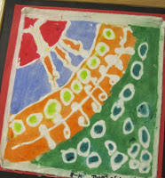 Create faux batiks using toothpaste!