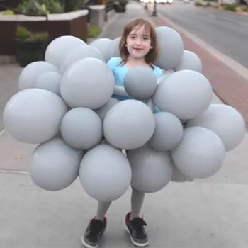Make a thunderstorm cloud costume with flashing lightning in no time.