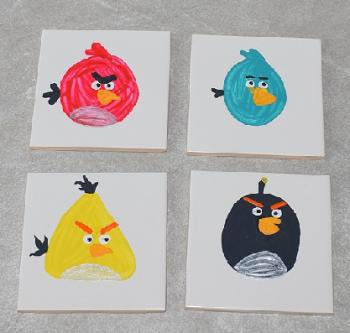 Angry Bird Coasters